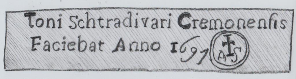 Ein nachgemachter Geigenzettel von Antonio Stradivari